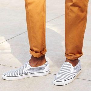 Vans Men's Blue Slip-on Sneakers